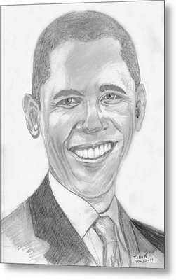 Barack Obama Metal Print by Tibi K