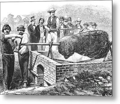 Barbecue, 19th Century Metal Print by Granger