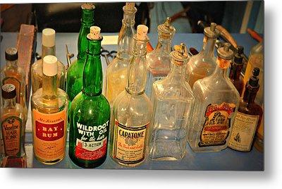 Barber Bottles Metal Print by Marty Koch
