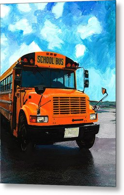 Barb's Bus Metal Print