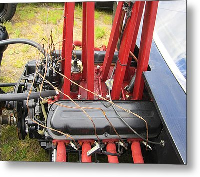 Barbwire Engine Metal Print by Kym Backland