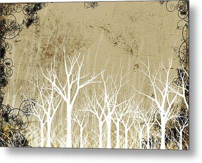 Bare Winter Season Trees Metal Print