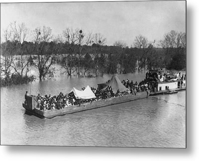 Barge Loaded With Poor African American Metal Print by Everett