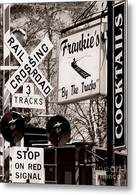 Metal Print featuring the photograph Barhopping At Frankies 1 by Lee Craig
