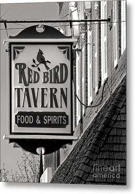 Metal Print featuring the photograph Barhopping At The Red Bird 1 by Lee Craig