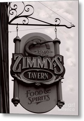 Metal Print featuring the photograph Barhopping At Zimmys 1 by Lee Craig