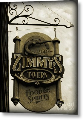 Metal Print featuring the photograph Barhopping At Zimmys 2 by Lee Craig