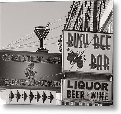 Metal Print featuring the photograph Barhopping Cadillac Style 1 by Lee Craig