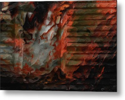 Barn Burning Metal Print by Jack Zulli