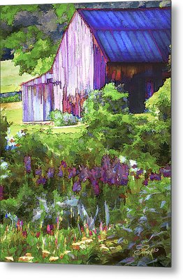 Barn In The Hollow Metal Print by Suni Roveto
