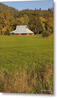 Metal Print featuring the photograph Barn Near Murphy by Mick Anderson
