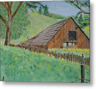 Barn On Hiway 20 Metal Print by Mick Anderson