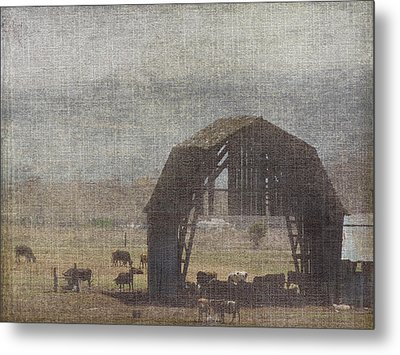Barn Remnants Metal Print by Cindy Wright