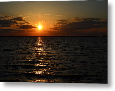 Barnegat Bay Sunset Metal Print