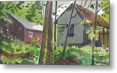 Barns 12 Metal Print by Donald Maier