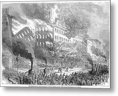 Barnums Museum Fire, 1865 Metal Print by Granger