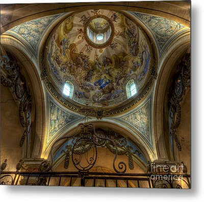 Baroque Church In Savoire France 5 Metal Print by Clare Bambers
