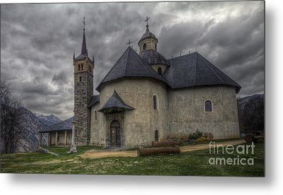 Baroque Church In Savoire France 6 Metal Print by Clare Bambers