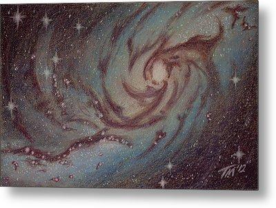 Barred Spiral Galaxy Ngc 1313 Metal Print by Thomas Maynard