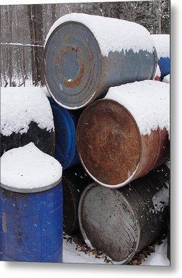 Metal Print featuring the photograph Barrel Of Food by Tiffany Erdman