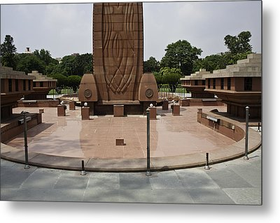 Base Of The Jallianwala Bagh Memorial In Amritsar Metal Print by Ashish Agarwal
