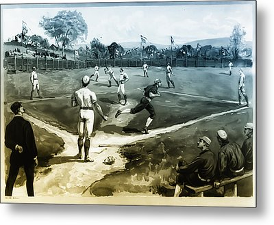 Baseball Metal Print by Bill Cannon