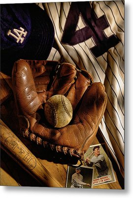 Baseball Metal Print by Bob Nardi