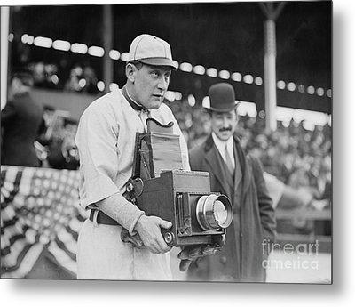 Baseball: Camera, C1911 Metal Print by Granger