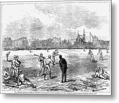 Baseball: England, 1874 Metal Print by Granger