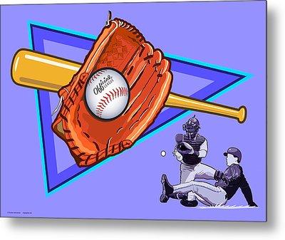 Baseball Metal Print by Erasmo Hernandez