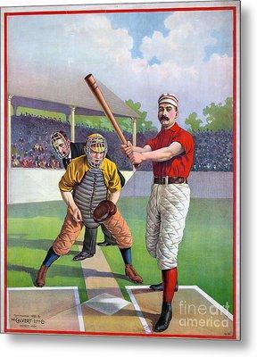 Baseball Game, C1895 Metal Print by Granger