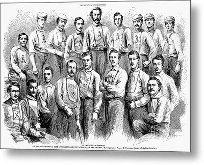 Baseball Teams, 1866 Metal Print by Granger