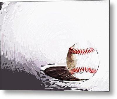 Baseball Metal Print by Tilly Williams