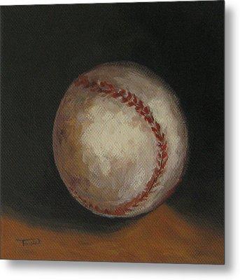 Baseball Metal Print by Torrie Smiley