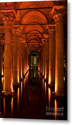 Metal Print featuring the photograph Basilica Cistern by Leslie Leda