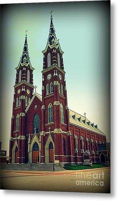 Basilica Of St.francis Xavier In Dyersville Iowa Metal Print by Susanne Van Hulst