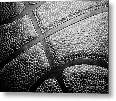 Basketball -black And White Metal Print by Ben Haslam