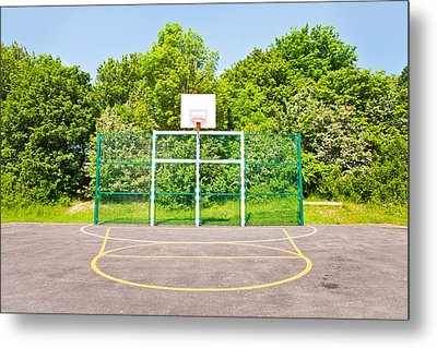 Basketball Court Metal Print by Tom Gowanlock