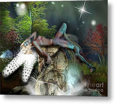 Basking In The Moonlight Metal Print