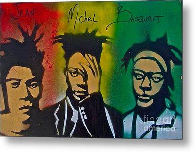 Basquait Me Myself And I Metal Print by Tony B Conscious
