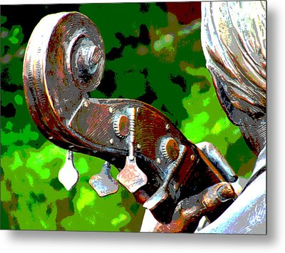 Bass Fiddle Metal Print by Charlie and Norma Brock