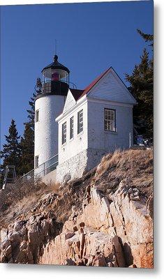 Bass Harbor Lighthouse Acadia National Park Metal Print by Glenn Gordon