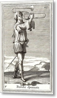 Bass Trombone, 1723 Metal Print by Granger