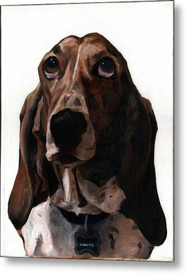 Basset Hound Named Coquette Metal Print