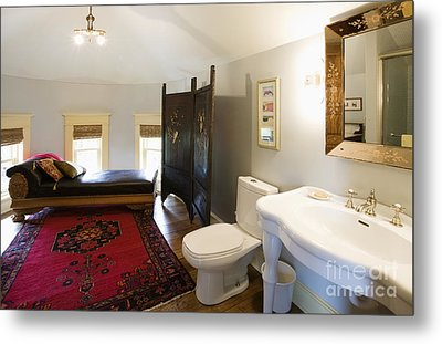 Bathroom With Sitting Area Metal Print by Andersen Ross