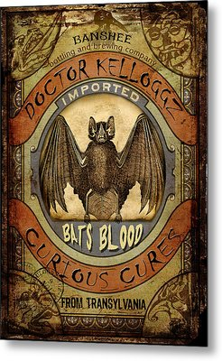 Bats Blood Metal Print