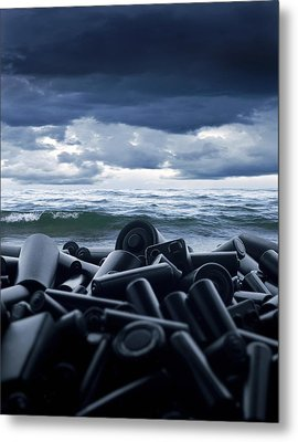 Batteries Polluting The Environment Metal Print by Richard Kail