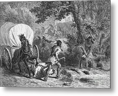 Battle Of Bloody Brook 1675 Metal Print by Photo Researchers