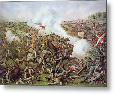 Battle Of Five Forks Virginia 1st April 1865 Metal Print