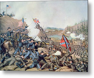 Battle Of Franklin November 30th 1864 Metal Print